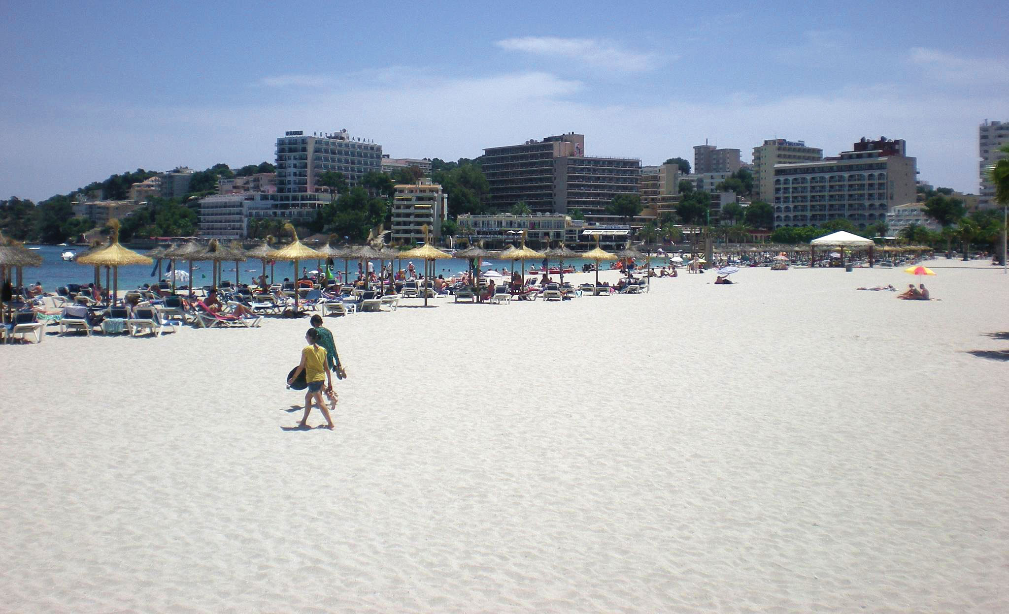 Palmanova property buyers enjoying the local beach.